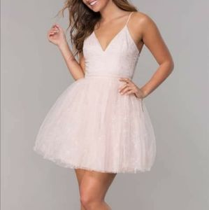Prom Girl Blush Pink Tulle Dress